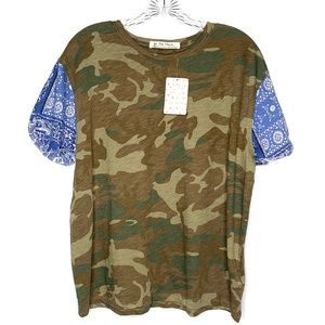 We the free•camo paisly T-shirt